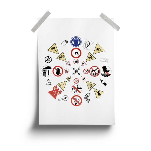 Cautionary Mandala - A3 Print